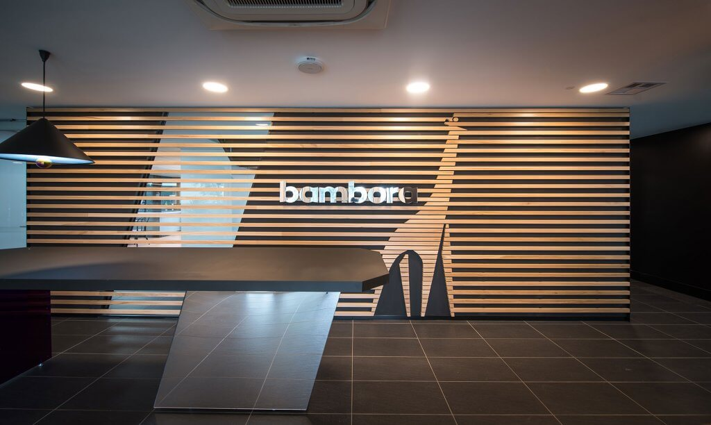 Bambora Office Interior Design - Reception Hero