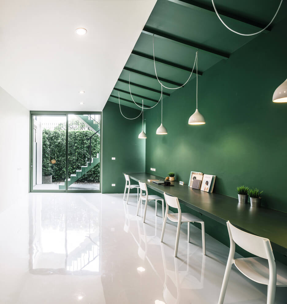 Merit interior design colour scheme green 26 production office