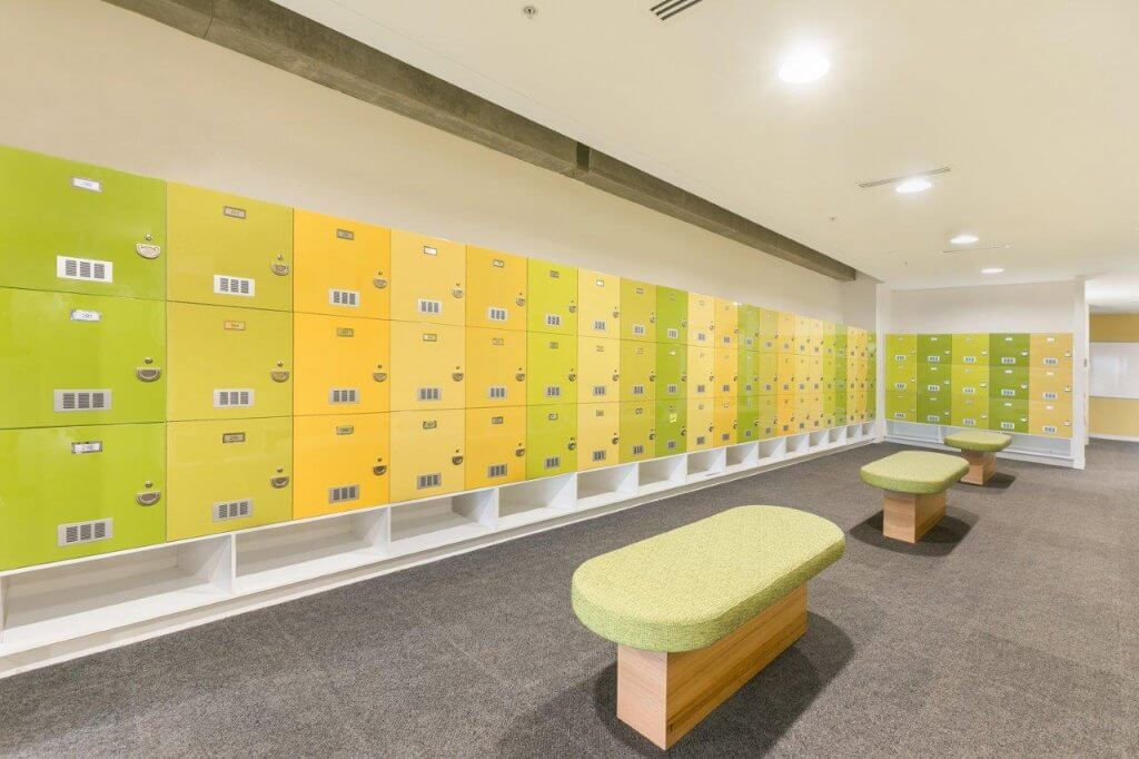 Merit Interior Design for Bendigo Bank - Change rooms 2