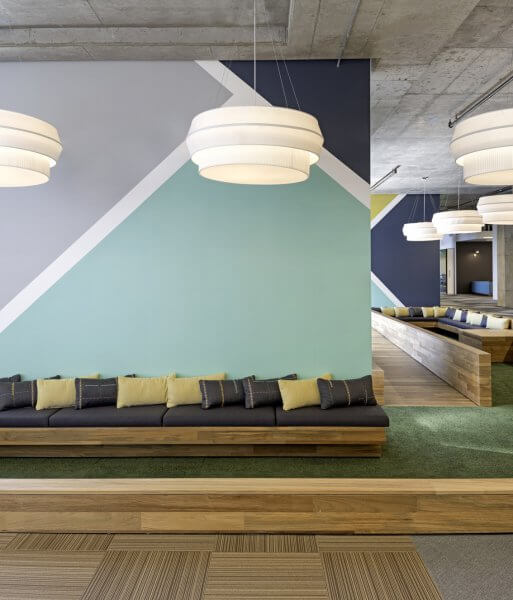 Merit Interiors Design Trends 2019 - Geometric Patterns - Cisco Offices