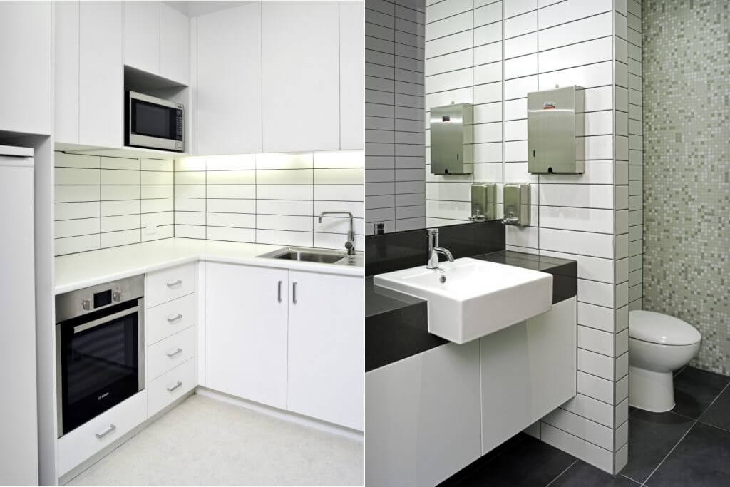 William Buck Corporate Offices Interior Design - Bathroom