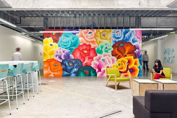 Office Murals to Inspire - Floral
